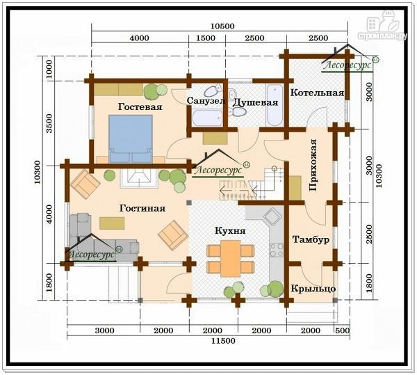 Фото 3: проект дачный дом с мансардным этажом