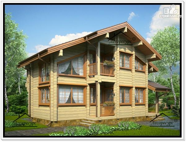 Фото 2: проект дачный дом с мансардным этажом