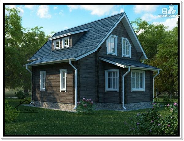 Фото 2: проект деревянный дом 8 на 8