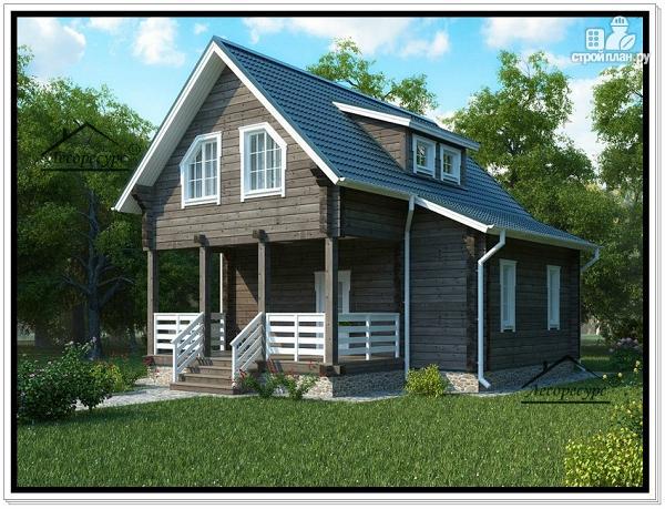 Фото: проект деревянный дом 8 на 8