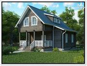 Фото: деревянный дом 8 на 8