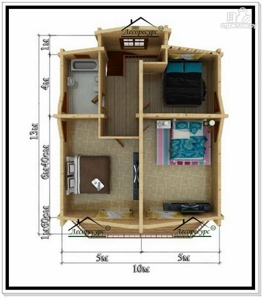 Фото 6: проект дом 10х13 из бруса