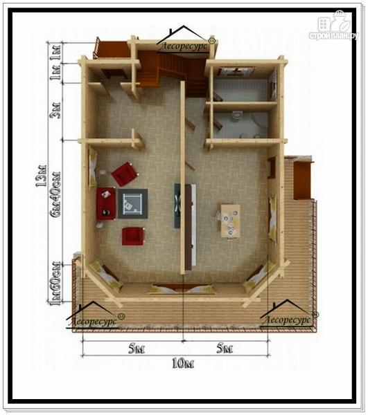 Фото 5: проект дом 10х13 из бруса