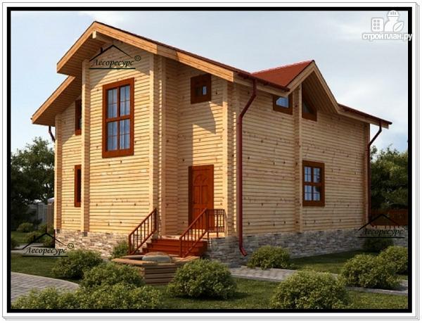 Фото 3: проект дом 10х13 из бруса