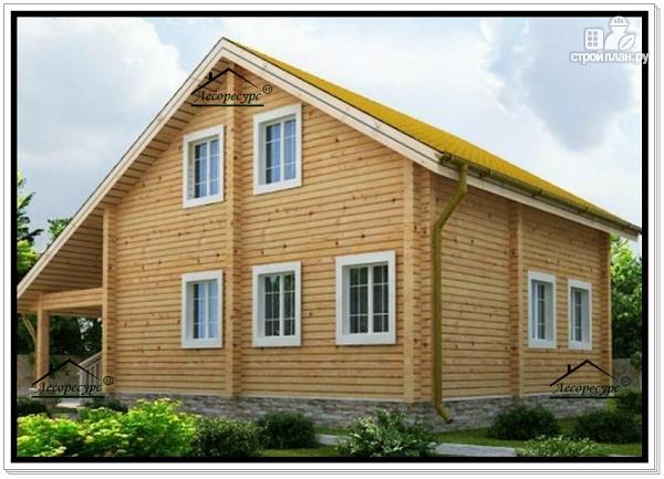 Фото 4: проект брусовой дом с мансардным этажом