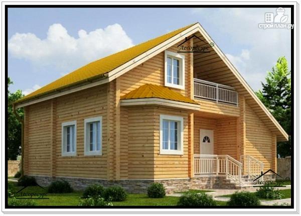 Фото: проект брусовой дом с мансардным этажом