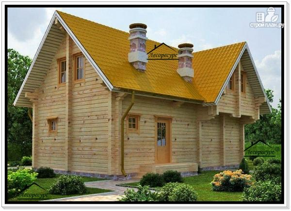Фото 3: проект дом 8 на 10 с мансардой