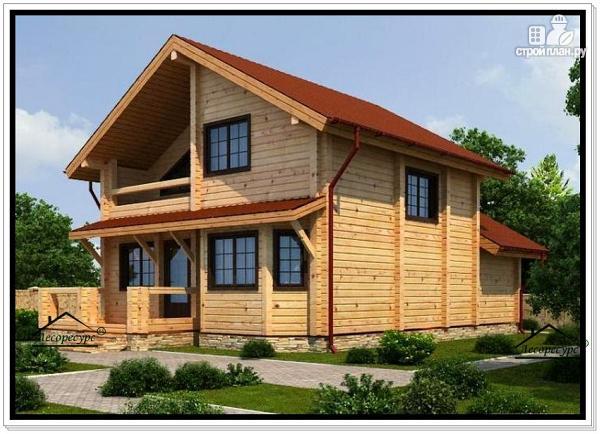 Фото 2: проект дом 7 на 8 из бруса