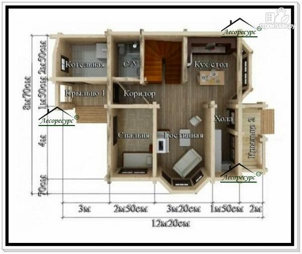 Фото 5: проект дом 7 на 8 из бруса
