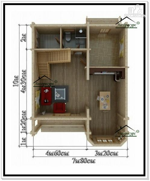Фото 5: проект дом 7 на 10 с мансардой