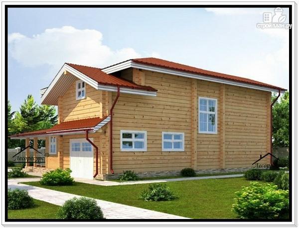 Фото 3: проект дом 10 на 13 из бруса