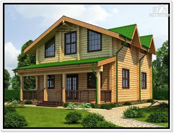 Фото 2: проект дом 8 на 10 с мансардным этажом