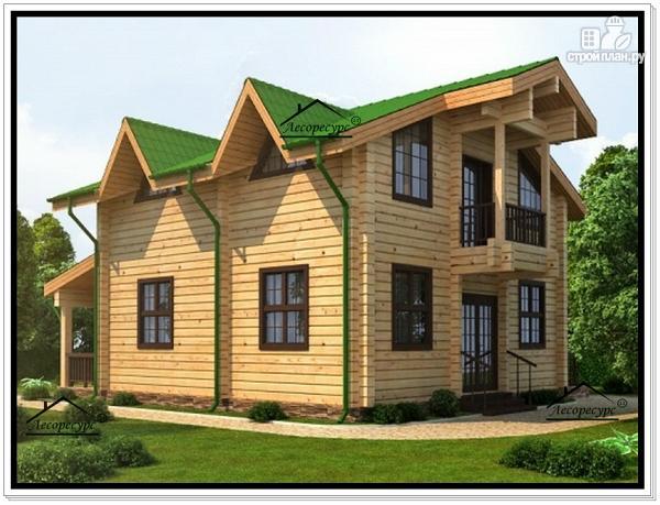 Фото 3: проект дом 8 на 10 с мансардным этажом