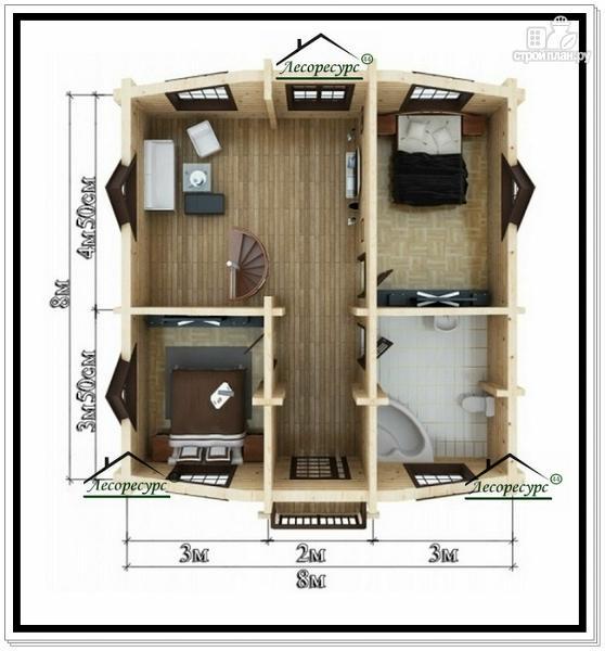 Фото 6: проект дом 8 на 10 с мансардным этажом