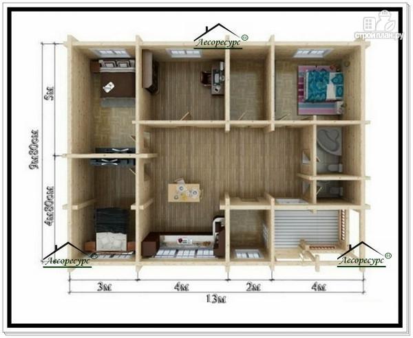 Фото 5: проект дом 10 на 13 одноэтажный