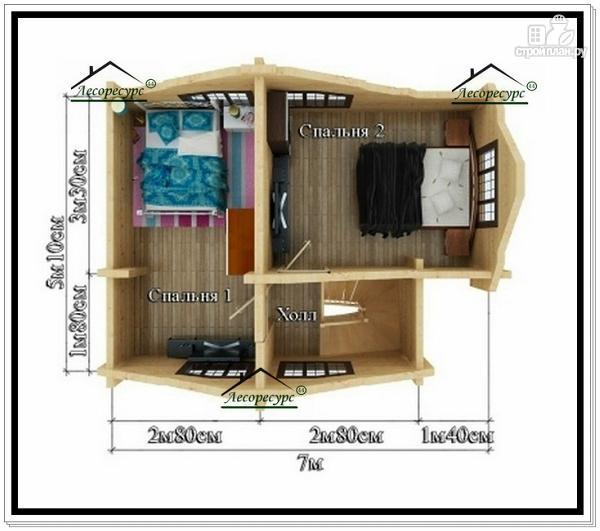 Фото 4: проект дом 6 на 8 с мансардой