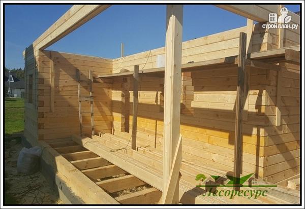 Фото 7: проект баня с комнатой отдыха и террасой