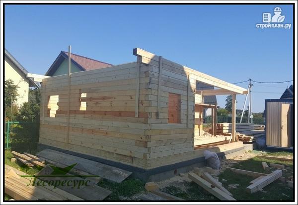 Фото 5: проект баня с комнатой отдыха и террасой