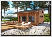 Фото: дом-баня из бруса с мансардой