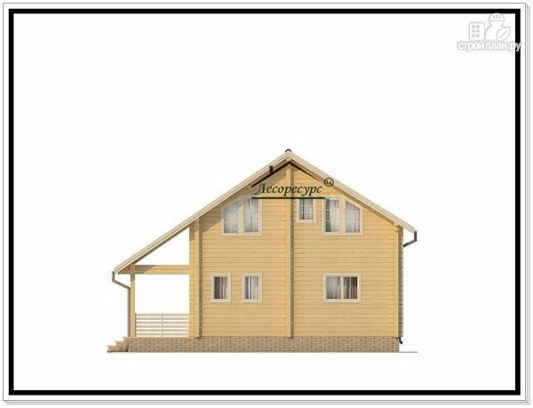 Фото 3: проект загородный деревянный коттедж из бруса