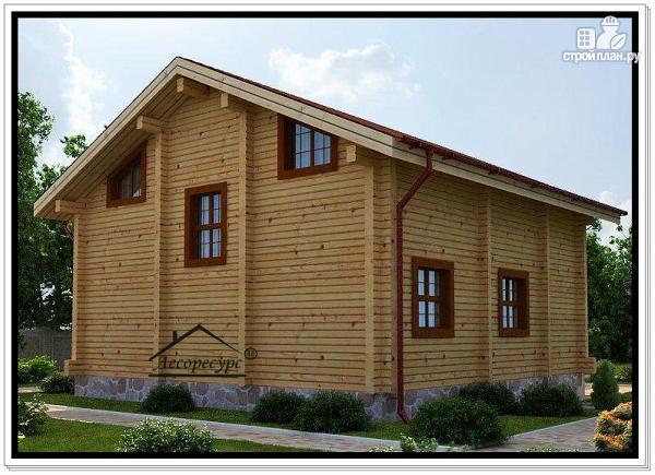 Фото 4: проект дом из бруса с двускатной крышей