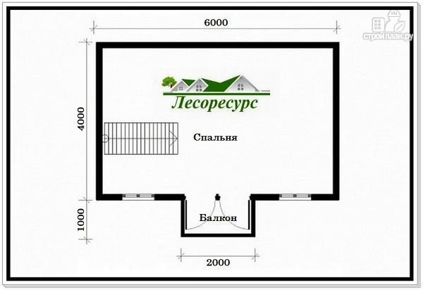 Фото 3: проект дом с 1 спальней на 2 этаже
