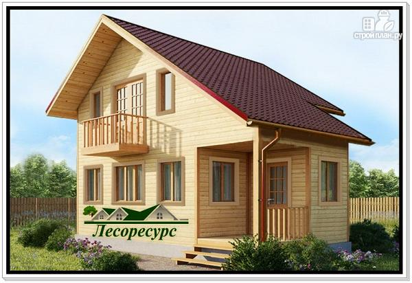 Фото: проект дом с 1 спальней на 2 этаже