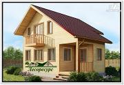 Проект дом с 1 спальней на 2 этаже