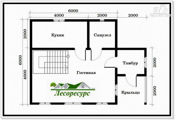 Фото 2: проект дом с 1 спальней на 2 этаже