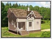 Фото: дачный дом с мансардой