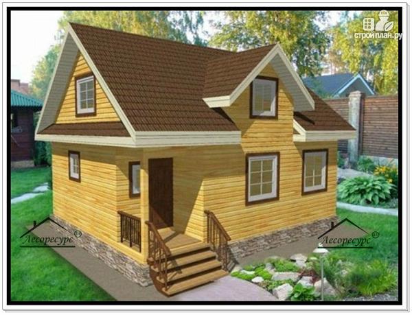 Фото: проект полутораэтажный дом