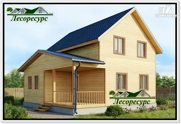 Фото: проект дачный дом с мансардой