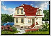 Проект небольшой дом с мансардой