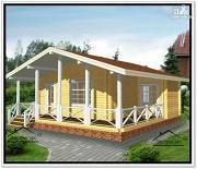 Фото: одноэтажный дом с террасой