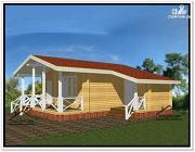 Проект одноэтажный дом из бруса 9 на 9