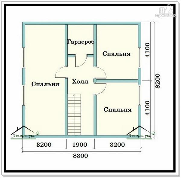 Фото 3: проект брусовой дом в 1.5 этажа