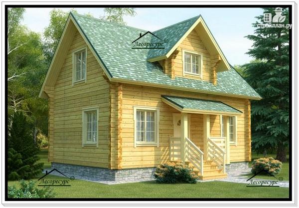 Фото: проект деревянный дом 6 на 9