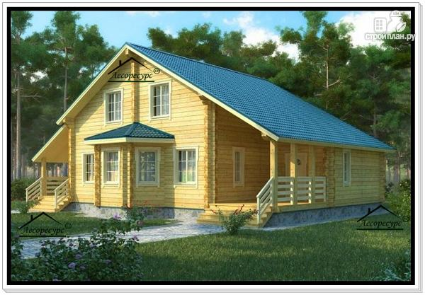 Фото: проект большой деревянный дом