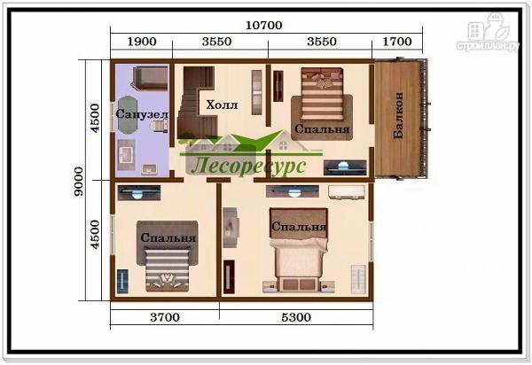 Фото 3: проект 1.5 этажный дом