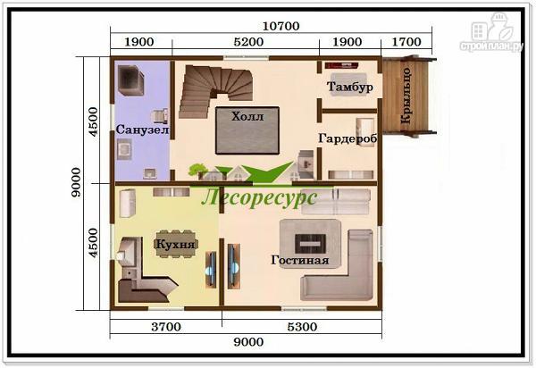 Фото 2: проект 1.5 этажный дом