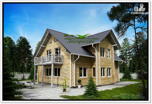 Фото 3: проект дом из бруса с мансардой