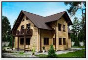 Проект дом из бруса с мансардой