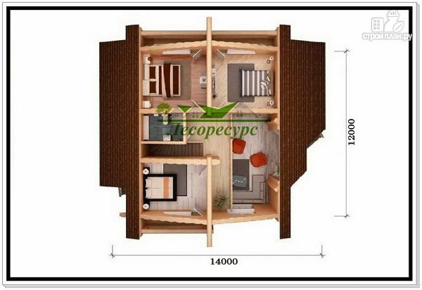 Фото 6: проект элитный дом из бревна