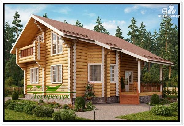 Фото: проект элитный дом из бревна