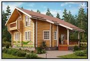 Фото: элитный дом из бревна