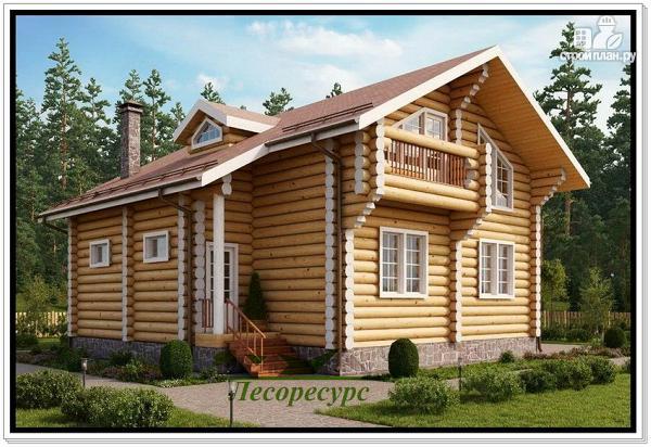Фото 2: проект элитный дом из бревна