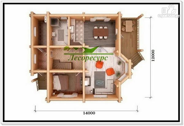 Фото 5: проект элитный дом из бревна