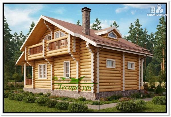 Фото 4: проект элитный дом из бревна