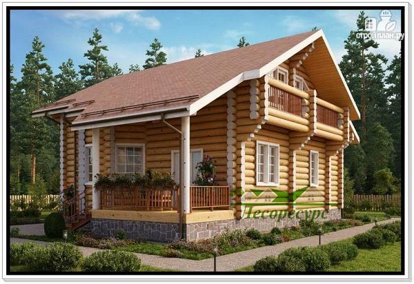 Фото 3: проект элитный дом из бревна