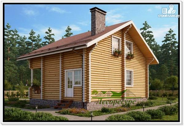Фото 4: проект дом 8 на 9 из бревна